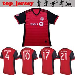 Wholesale Fc Soccer Jersey - Toronto FC Soccer jersey Thai quality 2017 BRADLEY GIOVINCO OSORIO ALTIDORE jersey 17 18 MLS Toronto home red football shirt