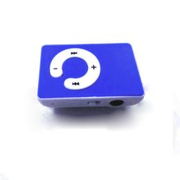Wholesale Mp3 2gb Clip - Wholesale- 5 Colors Mini Clip USB MP3 Music Player Support TF Card USB 2.0
