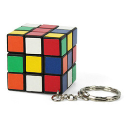 Wholesale Cheap Gifts Toys - Candy Cube Toy Mini Magic Cube Puzzle Keychain Key Ring Hot Sale Cheap Gifts Wholesale