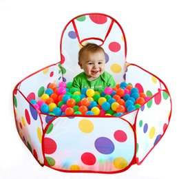 Wholesale Tent Pool Ball Pit - Foldable Children Kids Play Tents Ocean Ball Pool BOBO Ball Pit with Hoop Playhouse Baby Gift