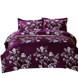 Wholesale Silver King Size Comforter Set - Wholesale-Svetanya Printed Bedding Set Queen Full Size Bedlinen (1pc comforter case+1pc bedsheet+2pc pillowcases) 4pc Duvet Cover Sets