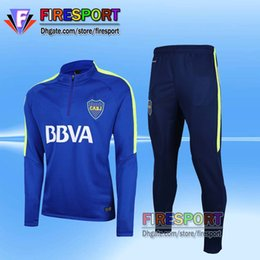 Wholesale Shirts Suits - 2017 Boca Juniors Training Suits 17 18 CARLITOS Tevez Corinthian Long Sleeve Tracksuit Camisetas De Futbol Chandal Survetement Jacket Shirts