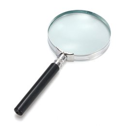 Wholesale 5x Hand Held Magnifying Glass - Wholesale- Hot Selling Portable 5X Handheld Hand Held Magnifying Glass Lens Magnifier Magnification 75mm Watch Repair Tool