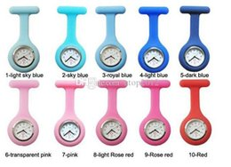 Wholesale Digital Gift Promotion Watch - Promotion!Colorful Nurse Brooch Fob Tunic Watch Silicone Cover Nurse Watch Christmas Gift Free DHL Shipping