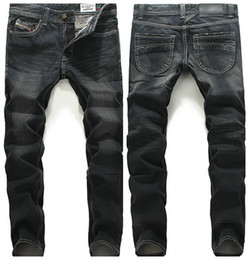 Wholesale Winter Jeans For Men - Wholesale-2016 HOT sale autumn Wholesale new winter men's cotton Slim small straight black jeans FOR men