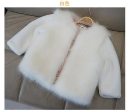 Wholesale Coat Feathers For Kids - Fashion Kids clothes winter fur coat for girls baby clothes parka elegant clothing for girls girl outerwear luxury faux fur