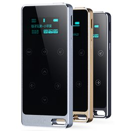 Wholesale 8gb Touch Music Player - Wholesale- Original RUIZU X05 HIFI MP3 Player 8GB Touch Button Lossless Sound 1.1 inch Screen Support FM,E-Book Recording Music Player
