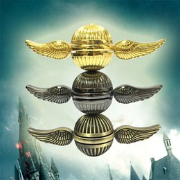 Wholesale Harry Potter Hot - hot Harry Potter Fidget Spinners Golden Snitch Cupid Wing Metal New Designs Hand Spinners Gyro Spira OTH534