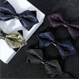 Wholesale marriage music - 20 Colors Solid Fashion Bowties Groom Men Colourful Plaid Cravat gravata Male Marriage Butterfly Wedding Bow ties