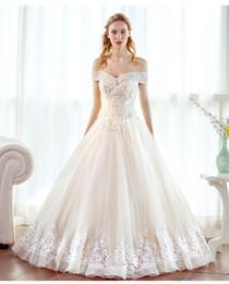 Wholesale Best Custom Made Shirts - Sweetheart A line Wedding Dresses Vintage Elegant Princess Bridal Gowns Floor-Length Off- Shoulder Lace-up Best Wedding Dresses