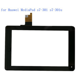 Wholesale Huawei S7 Screen Replacement - Wholesale- ALANGDUO for Huawei MediaPad s7-301 s7-301u Touch Screen Digitizer Panel Front Touchscreen Replacement Glass Tablet Sensor Lens