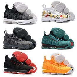 Wholesale Shoes Zipper Flower - 2017 Arrival with Zipper James 15 Basketball Shoes for High quality LBJ 15s Wolf Grey Flowers Airs Cushion Sports Sneakers Size 7-12