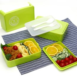 Wholesale Double Layer Lunch Box - A portable creative lunch box Sub format,Lunch box, microwave oven available   children's students double lunch boxes