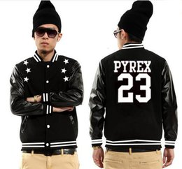 Wholesale Mans Brand Names Clothing - Pyrex Vision stars #23 baseball jackets sweatshirts sweats hip hop coats rock men fashion name brand suit male clothing