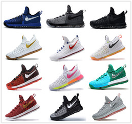 Wholesale Day Heating - Newest arrival kevin Durant KD9 IX USA Pre-Heat Cool Grey men basketball kd 9 Oreo Zero Elite sports shoes mens kds sneakers