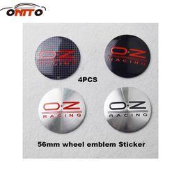 Wholesale Modified Sticker Cars - Modified Hot selling auto Wheel Center Emblem Stickers 56mm 2.20inch for OZ Racing B7 CC Jetta MK5 MK6 Tigun car styling