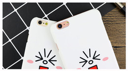 Wholesale Water Proof Rabbit - LineFriend Rabbit Cute Shell Phone Case For Iphone5s 6 6s 7 plus Ultrathin Waterproof Fingerprint-proof Iphone6s Protector PC Phone Cover