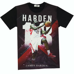 Wholesale Cool Basketball Shirts - Cool lay up T shirt James Harden short sleeve gown Basketball leisure tees Street printing clothing Unisex cotton Tshirt