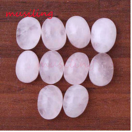 Wholesale Oval Red Gem - Flat Beads 6x8mm Natural Gem Stone Beads DIY For Jewelry Making Rose Quartz Amethyst etc Loose Beads Charms Accessories jewelry