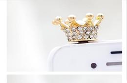 Wholesale Headphone Cute - Wholesale Cute Mobile Decoration Earphone Jack Bird Nest Dust Proof Plug 3.5mm Crystal Bling Diamond Headphone Plug Universal For All Mobile