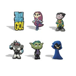 Wholesale Refrigerator Magnets Wholesale - 12PCS Teen Titans PVC Blackboard Magnetic Stick,Fridge stickers,Refrigerator Magnets, Cute Blackboard Magnets,For Students' Gifts Party