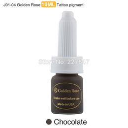 color rosa intenso Rebajas Venta al por mayor-CHUSE J01 3pcs Deep Coffee Microblading PMU Ink Golden Rose Pigmento de tinta de maquillaje permanente para cejas 12 colores a elegir