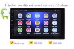 Wholesale Links Audio - 7 inches double din 12V car DVD Android 6.0 audio and video player HD capacitive touch screen 1080P video GPS 2GB RAM WIFI 4G mirror link