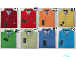 Wholesale Red Mail - New Gant Recreation big yards Short sleeve round collar lapel gt T-shirt bag mail island SIZE M-XXL