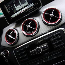 Wholesale Amg Sticker 3d - Dedicated to Mercedes-Benz A-class B-class CLA GLA air conditioning outlet decorative ring decorative stickers Mercedes-Benz AMG interior de