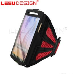 Wholesale Fabric Armbands - universal phone case Sports running arm bag workout armband holder ponch bag for note7 iphone7 mobile phone