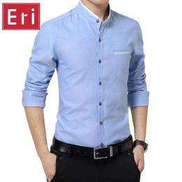 6f2211093e198 Wholesale- Oxford Men s Casual Shirts 2017 New Arrival Brand Long Sleeve  Slim Fit Cotton Business Dress Men Shirt Social 3XL 4XL 5XL X387