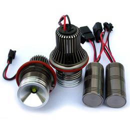 Wholesale E87 Led - High power Cree chips 10W 20W xenon white led angel eyes ring marker light bulbs for BMW E39 E53 E60 E63 E87