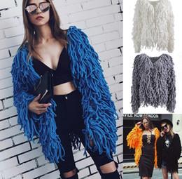Wholesale Womens Long Winter Fur Coats - New 2017 Winter Fashion Slim Faux Fur Coat For Womens Long Sleeve Warm Short Imitation Fur Jackets Plus Size 3XL Fur Vest