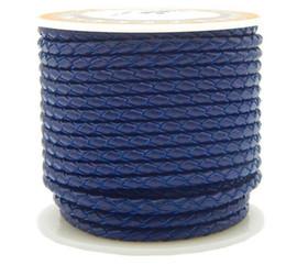 Cordon en cuir de vachette, avec bobine plastique, normes différentes pour le choix, Rond, pour collier, bracelet, bleu de bijou, Vendu par PC ? partir de fabricateur