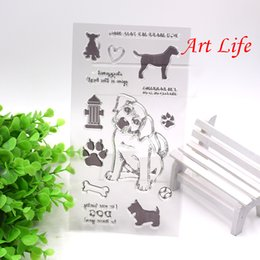 Wholesale New Scrapbooking Supplies - Wholesale- NEW Lovely Cute Dog Transparent Clear Silicone Stamp for DIY Scrapbooking Card Making Kids Christmas Fun Decoration Supplies