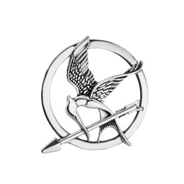 Wholesale African Animals Games - Hungry Games Mocking bird brooches bird jewelry film movie jewelry animal Inspired Mockingjay And Arrow Brooch Pins maxi statement 170222