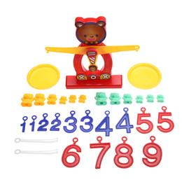 Wholesale Brains Balance - Wholesale- 1Set Cute Bear Balance Brain Development Toy Baby Kids Early Educational Balancing Digital Numbers Learning Math Toy FCI#