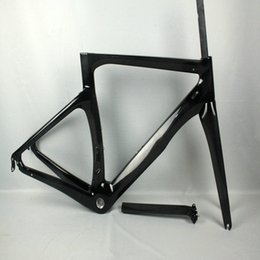 Wholesale Taiwan Road Bike Frames - Torayca T1100 road carbon frame paint in bike frame black lava shiny red bicycle frame set 55cm made in taiwan free shipping
