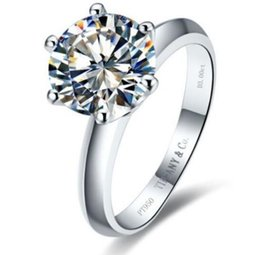 Wholesale 2ct Diamond Band - Engagement Ring 14k White Gold Enhanced Diamond Solitaire 2Ct