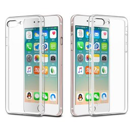 Wholesale Iphone 5s Clear Case Rubber - For iPhone 7 7 Plus Crystal Clear TPU Gel Rubber Soft Case Cover For iPhone 5s 6 6S plus Samsung S6 S6 edge S7 S7 edge