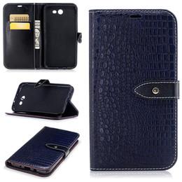 Pour Samsung J7 2017 J5 Cas De Luxe Crocodile Stripes PU En Cuir Portefeuille Flip Housse de Protection Pour Samsung J3 Téléphone Sac Cas ? partir de fabricateur