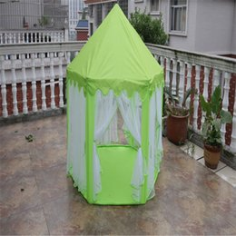 Wholesale Tent Girl - Wholesale-Portable Children Kids Play Tents Outdoor Garden Folding Toy Tent Pop Up Kids Girl Princess Castle Outdoor House Kids Tent