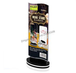 Wholesale Wholesale Advertising Menus - 5pcs Hot sale Rotatable acrylic restaurant Bar menu card display stand Advertising tag sign card double-sided display Desktop Billboard rack