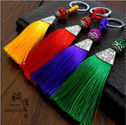 spike ornament NZ - Christmas gifts new handicrafts Chinese style retro tassel keychain fashion creative car key pendant bag ornaments