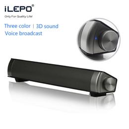 Wholesale Perfect Button - Powerful Bluetooth Soundbar TV Perfect sound Soundbars LP-08 HIFI Mini Altavoz USB Soundbar Speaker For Computer PC Tablet TV
