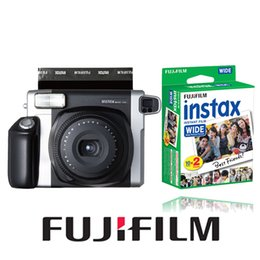Wholesale Fuji Instant - Wholesale- Fujifilm Instax WIDE 300 Instant Camera + 20 Sheets Fujifilm Fuji Instax Wide White Edge Film for Wide Film Camera 100 200 300