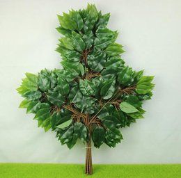 Wholesale Lighted Flower Branches - Artificial leaves, artificial tree branches, artificial leaves, plastic fig leaves, walnut leaves