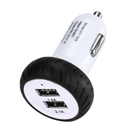 Wholesale Car 12v Usb Adaptor - Wholesale-Vehicle 2016 2.1A 1.0A Mini Dual 2 Port 12V USB Auto In Car Charger Adapter Adaptor Charge Black Color