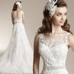 Wholesale Cheap Vintage Europe - 2017 New Cheap Wedding Dresses Europe and the United States the bride mermaid wedding dress perspective deep v-neck sexy lace bridal dress
