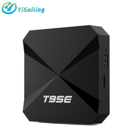 Wholesale Media Player Tuner - T95E 4k smart tv box android 5.1 wifi RK3229 quad-core cortex-A7 1GB RAM 8GB ROM DLAN H.265 kd 16.1 OTT IPTV UHD Media player